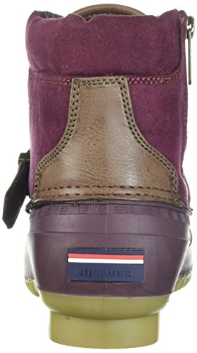 Snow Boot Tommy Regin Hilfiger Burgundy Women's Oftwnw8qrI