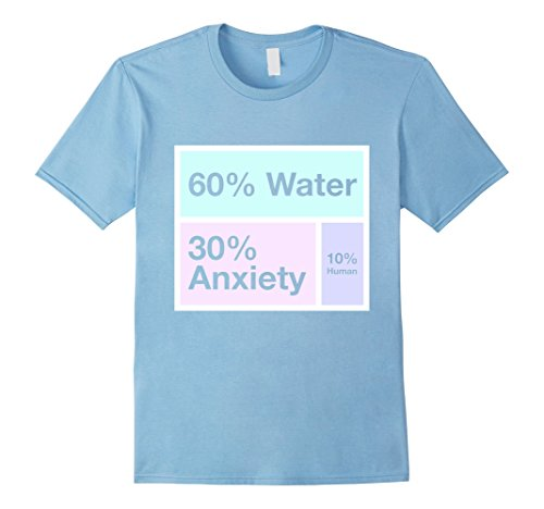 Mens Water Anxiety Human Percent Aesthetic Small Baby Blue