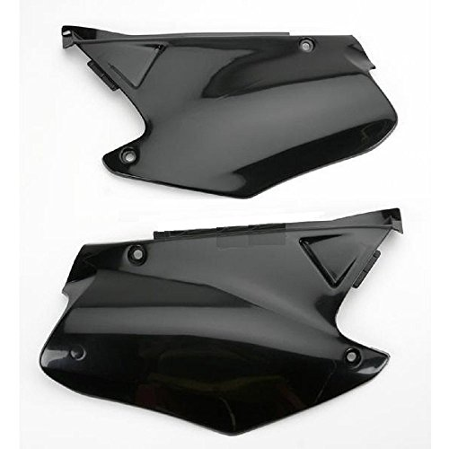 Ufo Side Panels - Ufo Black Side Plates and Keepitroostin Sticker Fits Honda Cr125 Cr250 2000 2001