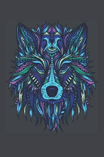 (Wolf Head Mandala: 6x9 Lined Writing Notebook Journal, 120 Pages)