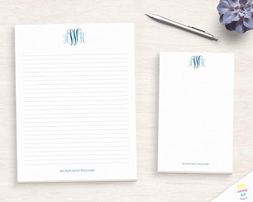 Office Notepad Classy Sans Font Personalized Notepad Letter Writing Paper Custom Desk Pad