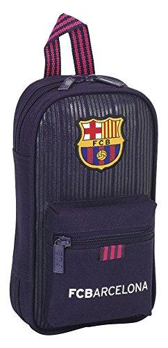 Safta Con Neceser Con Safta 4 Estuches y útiles F.C.Barcelona 2ª Equipacion 16/17 Oficial 120x50x230mm f64204