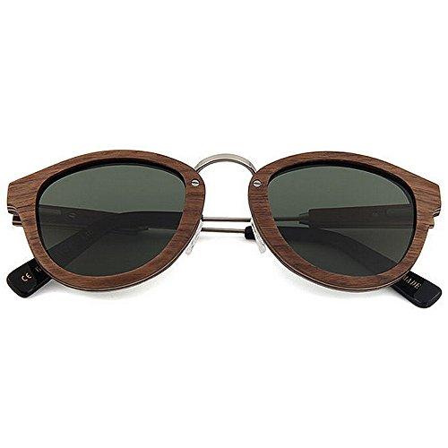 ULTRAVIOLETA protección sol gafas gafas de Retro alta de mano las sol de hechas calidad gafas de mano a Gafas caballero la hechas polarizadas de Gris conducen sol de Beach Sunglasse madera sol de a del que 4ZrvX4wFq