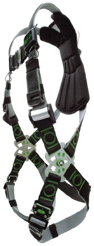 (Miller RKN-QC/XXL/XXXLBK Revolution Harness with Kevlar-Nomex Webbing and Quick-Connect Leg Buckles, Black, 2X/3X)