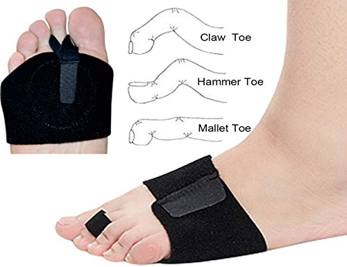 Hammer Toe Straighterner Corrector,Osteotomy Strap with Metatarsal Brace Included Metatarsal Pad for Mallet Toe, Claw Toe Straighten with Two Toe Loops
