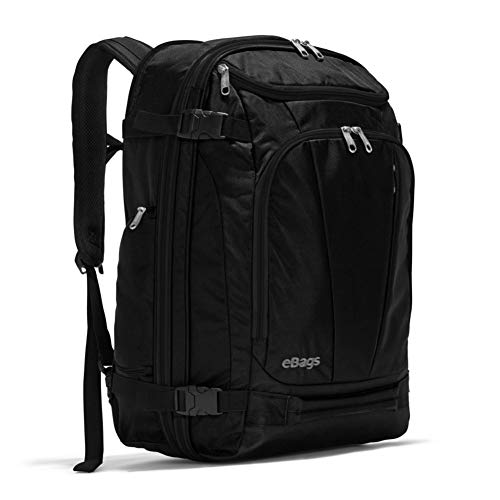 eBags TLS Mother Lode Weekender Convertible Carry-On Travel Backpack - Fits 19 Inch Laptop - (Solid Black)