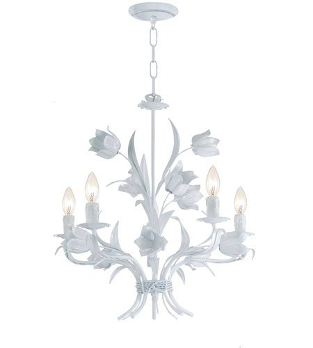 Crystorama 4815-WW Southport 5LT Chandelier, Wet White Finish