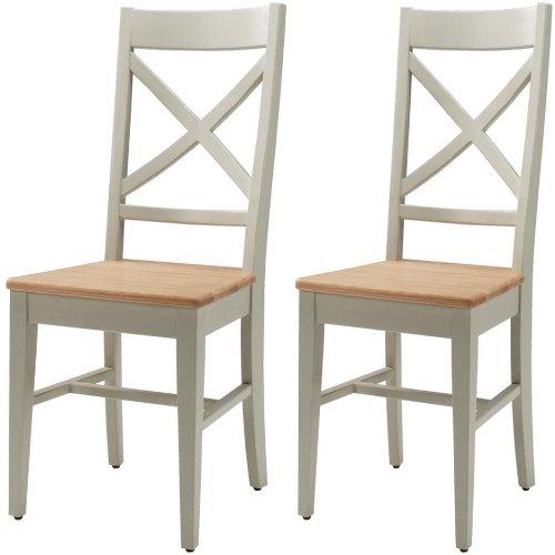 Savile Eiche lackiert, Tischplatte 2 Stühle Esstisch
