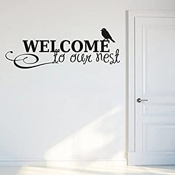 Buy Decals Design Welcome to Our Nest Wall Sticker PVC Vinyl