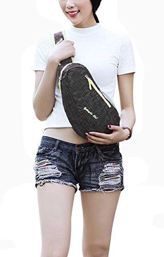 FakeFace Neu Rucksack Umhängetasche Brusttasche Schultasche Tragetasche Brustbeutel Sport Tasche Multifunktionrucksack für Outdoor Schwarz 39PLxt3