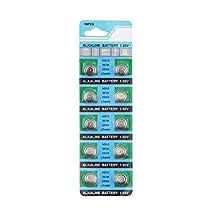 10Pcs X AG13 LR44 LR1154 SR44 A76 357A 303 357 Alkaline Coin Cell Button Battery