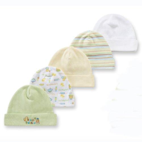 Gerber Cap, 5 Pack, 0-6 Months