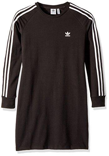 adidas Originals Girls' Big Trefoil Dress, Black/White, M