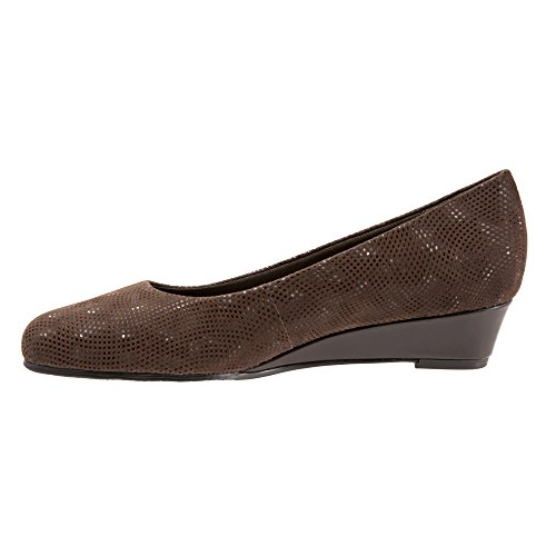 Suede Wedge Women's Leather Trotters Dress 3d Lauren Patent Brown tqOxwCFn0