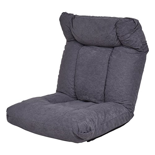 Cheap Giantex Cushioned Floor Gaming Sofa Chair Adjustable Folding Lazy Recliner w/ Headrest