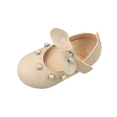 fc3d2004bc733 Ouneed- Fille Chaussures de Princesse Chaussures Elégantes Douces Princesse  Noeud Papillon Chaussures de Princesse Plat