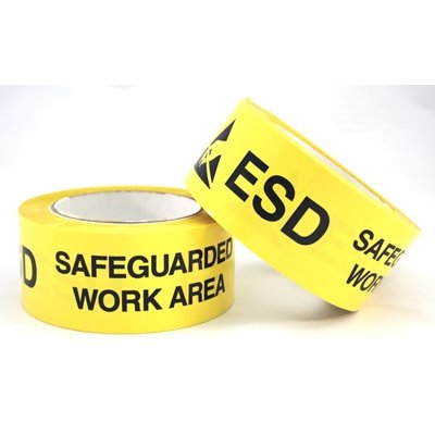 Correct Products 50-16004 ESD Printed Floor Marking Tape, 3'' x 108'