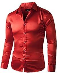 Men's Regular-Fit Solid Color Dance Prom Dress Shirt