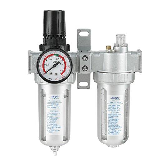Haofy Separador Agua Aceite Regulador del Filtro de Aire Neumática Compresor de Filtro de Aire 1/2' SFC400