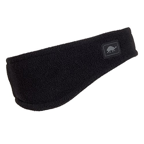 Fleece Headband Ear Warmer - Turtle Fur Double-Layer Bang Band, Chelonia 150 Fleece Headband,Black,One Size