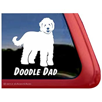 Bluegrass Decals L1063 Doodle Dad Labradoodle Dog Breed Decal Sticker