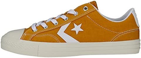 Converse Mens Turmeric Gold Star Player Suede Ox Trainers UK