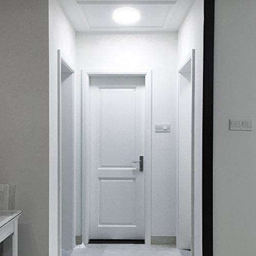 Le Plafonnier Led Salle De Bain Dimmable 24w 2 100w Lampes