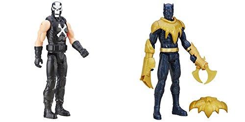 [Super Hero Titan Hero Series Crossbones vs Titan Hero Series Black Panther 12-inch Action Figures Toys, 2] (Kid Sized Assassins Creed Costume)