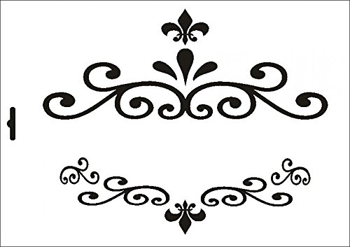 UMR-Design W-455 Garnments Textil- / wallstencil Size A4