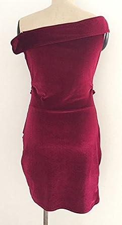 Vestidos Fiesta Mujer Terciopelo Vestidos De Noche Largo Corto V Cuello Sin Tirantes Irregular Asimetricos Slim Fit Paquete De Cadera Vestido Coctel ...