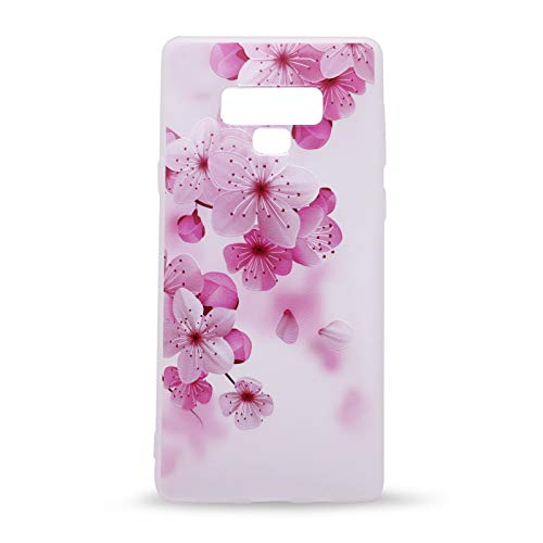 (IMIFUN 3D Relief Flower Silicon Phone Case for Samsung Galaxy Note 9 Romantic Rose Floral iPhone Cases Soft TPU Cover (Pink Flowers))