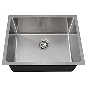 1823 18-Gauge Undermount Single Bowl 3/4-Inch Radius Stainless Steel Kitchen Sink