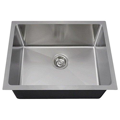 1823 18-Gauge Undermount Single Bowl 3/4-Inch Radius Stainless Steel Kitchen ()
