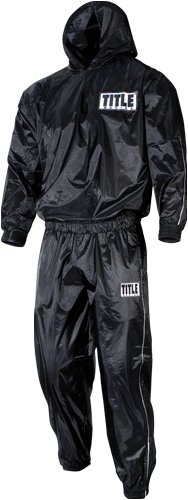 TITLE Pro Hooded Sauna Suit, Black, X-Large (Title Suit Sauna)