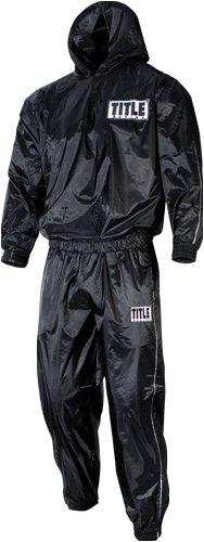 TITLE Pro Hooded Sauna Suit, Black, X-Large