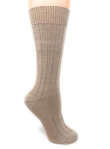 - Warrior Alpaca Socks - Women's Baby Alpaca Wool, Bed & Lounge Socks - Relax & have warmer feet while sleeping (Medium, Wheat)