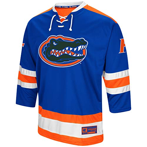 Colosseum NCAA Mens Athletic Machine Hockey Sweater Jersey-Florida ()