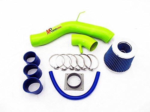 02 03 04 05 06 Nissan Altima 2.5L L4 GREEN Piping Cold Air Intake System Kit with Blue Filter by Monokaracing (Image #1)