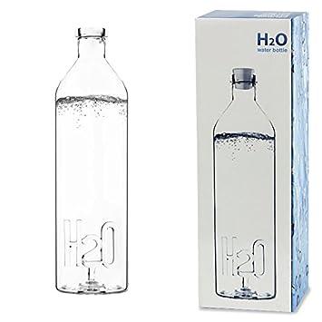 CKB Ltd H2O botella de agua de cristal de mesa diseño de French 1,2
