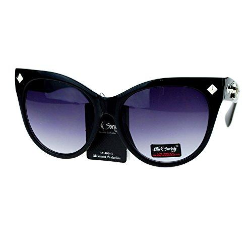 Skull Sunglasses Black Frames - 7