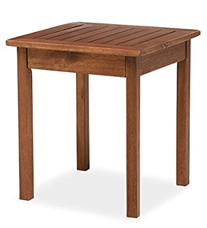 Plow & Hearth 62A36-NT Eucalyptus Wood Side Table, 18 x 20, Natural 18 x 20