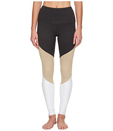 Onzie High Rise Track Leggings Taupe Combo (S/M) ()