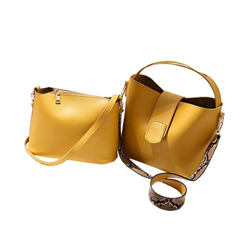 Crossbody Bag for Lady,Simple Tote Shoulder Bags Leather Snake-like Shoulder Strap Handbags ()