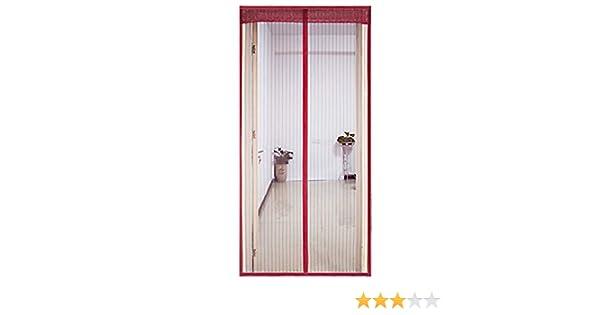 OLDLU De Puerta de Pantalla magnética,Heavy Duty Autoadhesivo Actualizado Este Hotel de Mascotas y niño Puerta corredera Patio Puerta Doble-J 150x220cm(59x87inch): Amazon.es: Hogar