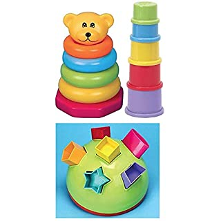 Teach Time Gift Set with Shape Sorter, Bear Stacker Stacking Cups