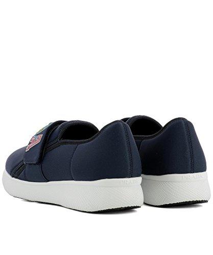Prada Damen 1s112ifd0303i7pf0216 Blau Stoff Slip On Sneakers