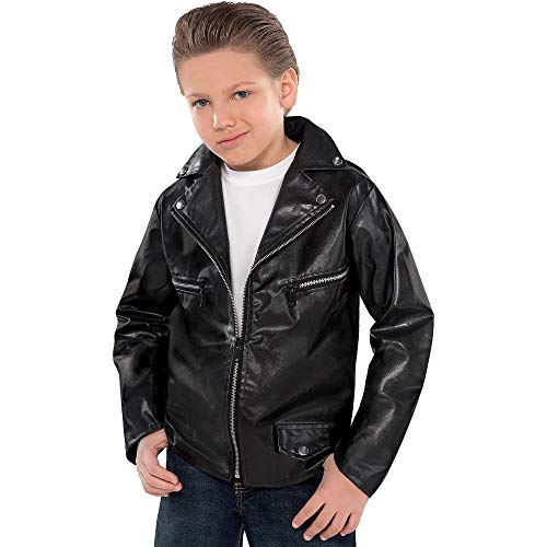 AMSCAN Studded Greaser Jacket Halloween Costume Accessories for Boys, One Size ()