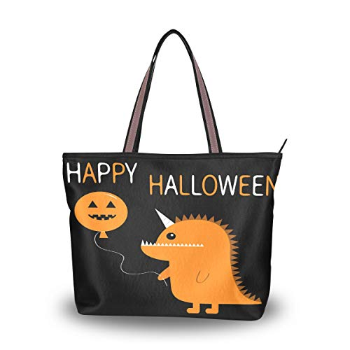 Shoulder Handbag Happy Halloween Monster Women Handle Bag