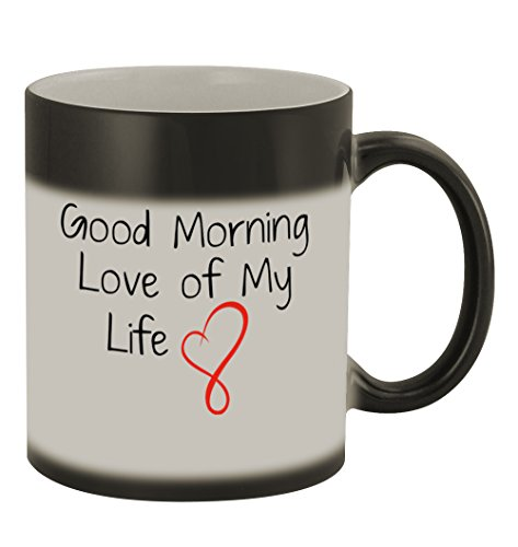 Good Morning Love of My Life #169 - Funny Humor Ceramic 11oz Color Changing Coffee Mug Cup by Middle of the Road