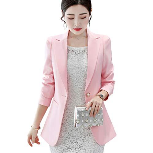 4d93905c75ae Rosa Office Trabajo Chaquetas Mujer Escudo Y Kaiyei Otoño Blazer 5 Oficina  Slim Traje Primavera Dama Blazers txsQdChr